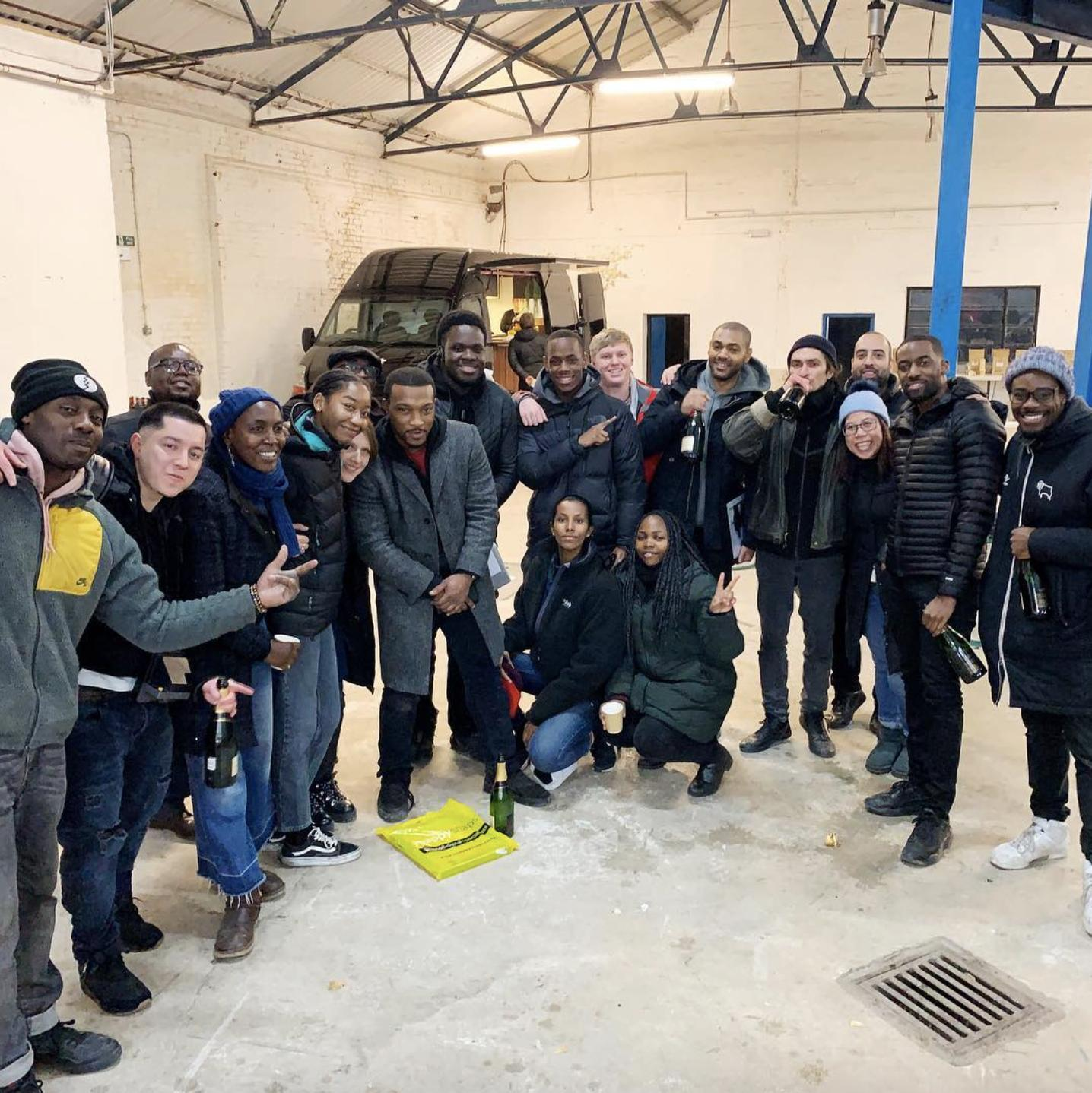 Kano and the cast and crew of Top Boy season 3.