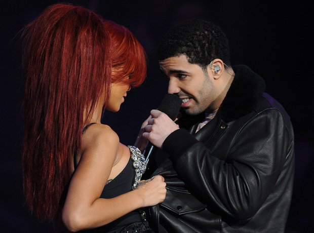 Rihanna and Drake at The NBA All-Star Game