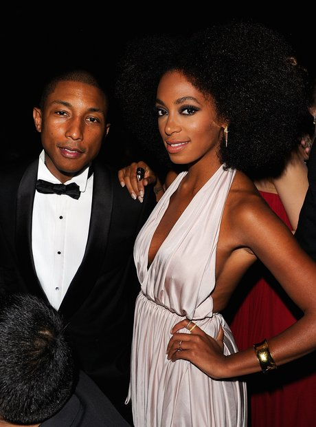 Pharrell Williams and Solange Knowles attends the
