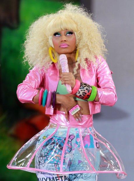 Nicki Minaj performs