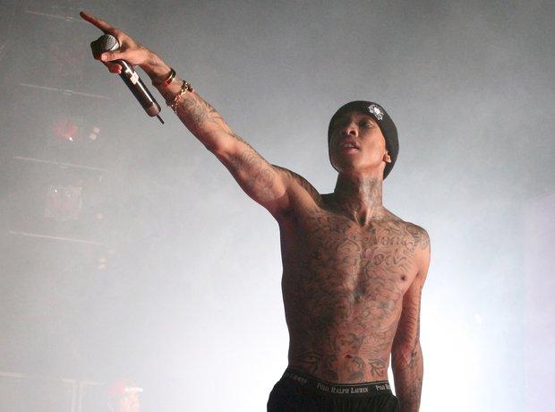 Tyga topless