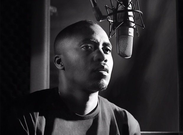 Nas in the studio