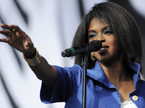 Fugees Star Lauryn Hill performing live on stage