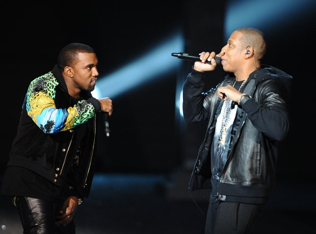 Jay-Z and Kanye West perform