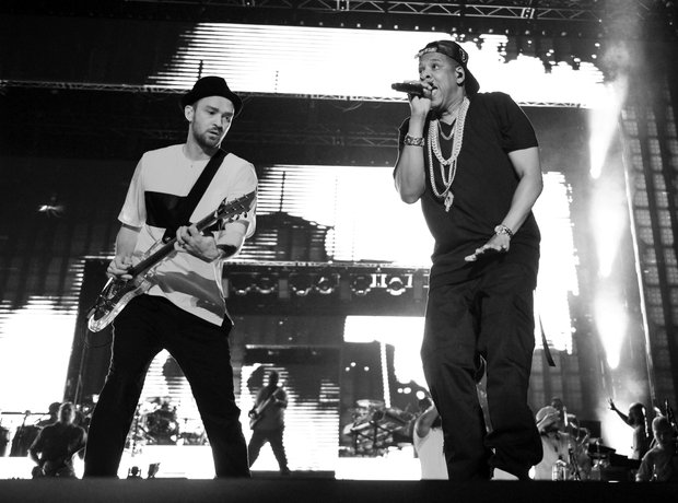ustin Timberlake and Jay-Z perform together