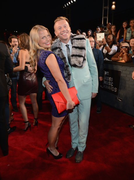 Macklemore with girlfriend Tricia Davis at MTV VMAs 2013