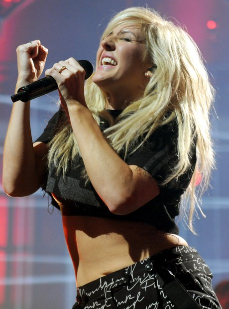 Ellie Goulding performing on stage during the iTunes Festival 2013