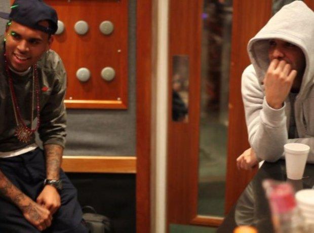 Drake And Chris Brown In Studio