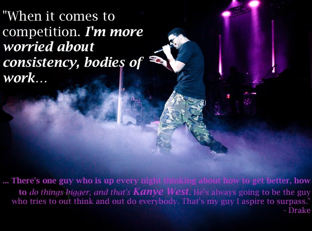 Drake kanye west competition quote