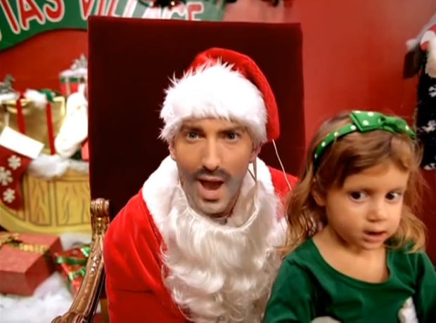Eminem dressed as father Christmas in Just Lose It Video