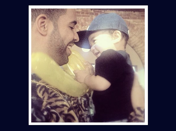 Drake with a baby