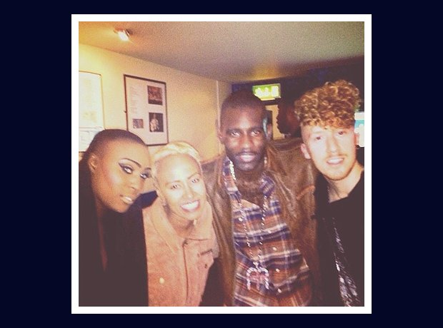 Daley with Laura Mvula, Wretch 32 and Emeli Sande.
