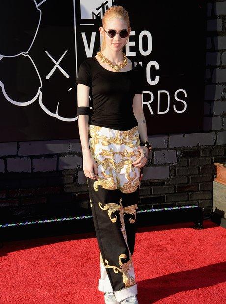 Grimes on MTV red carpet