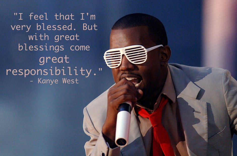 Kanye Spiderman inspirational quote