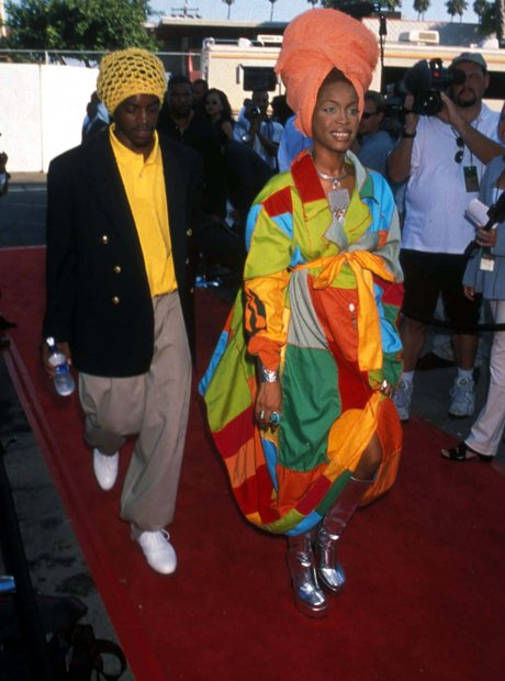 Andre 3000 and Erykah Badu on the red carpet together