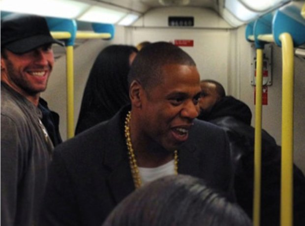 Jay Z and Chris Martin on the underground