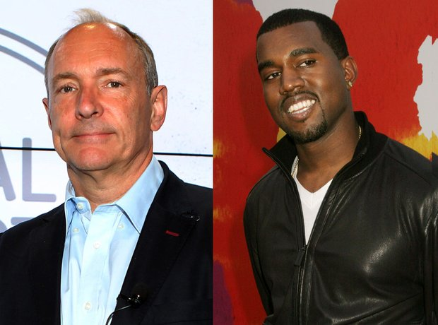 Sir Tim Berners-Lee and Kanye West