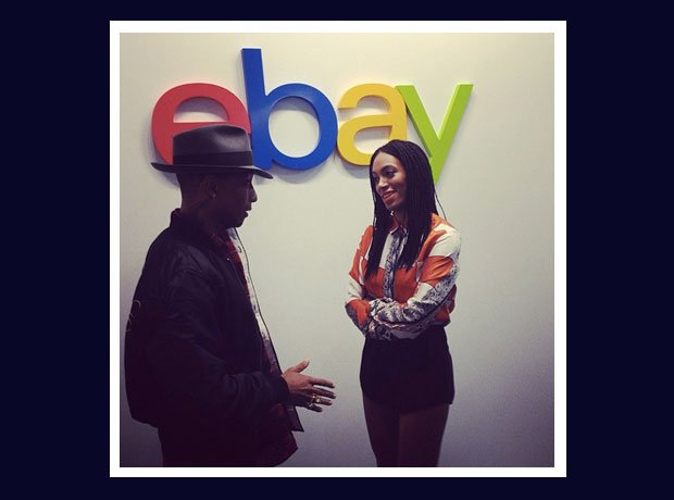 Pharrell Williams and Solange at EBay