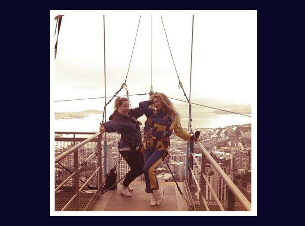 Beyonce bungee jumping