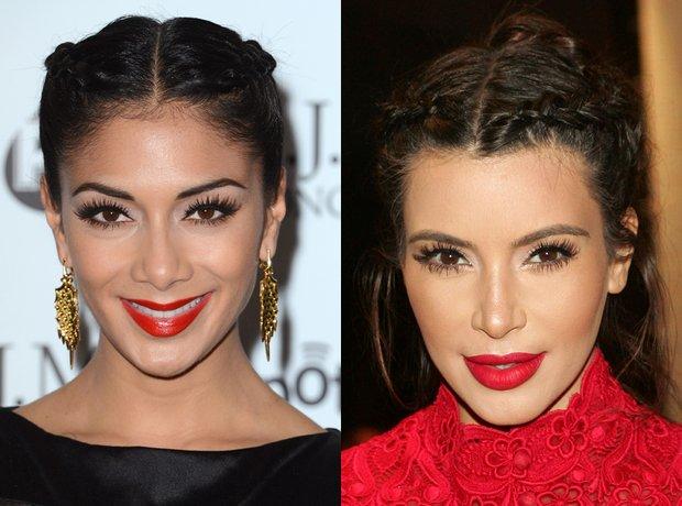 Nicole Scherzinger and Kim Kardashian lookalike