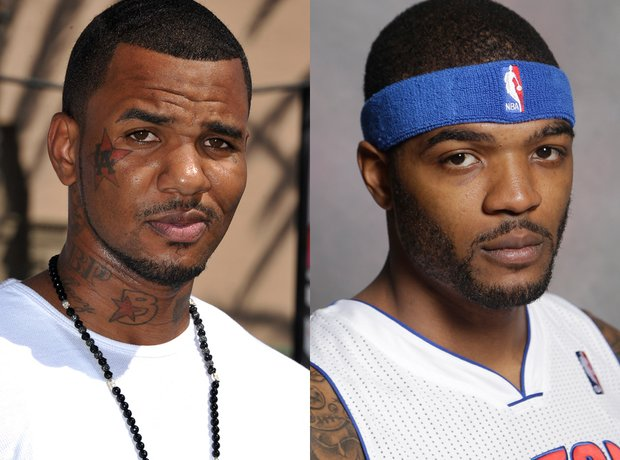 The Game and Josh Smith looaklike