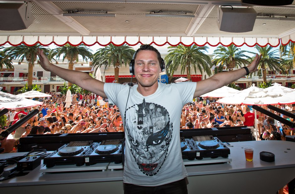 Tiesto in DJ booth smiling