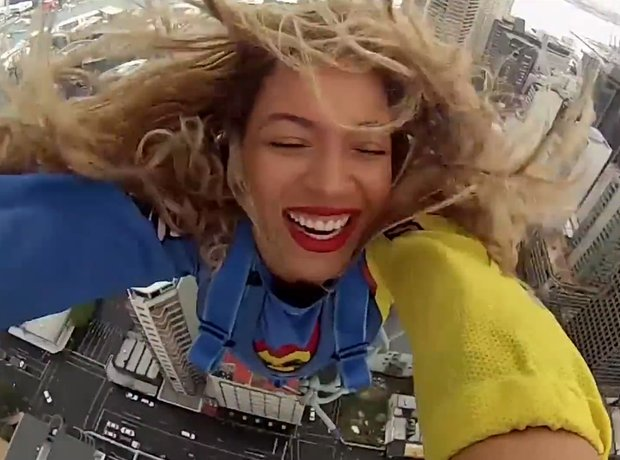 beyonce freefall video