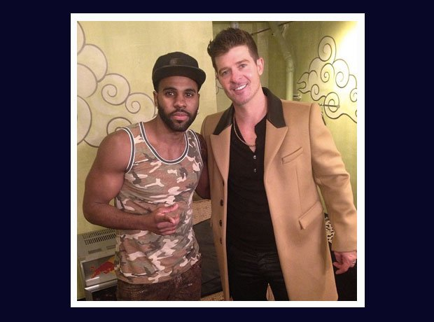 Jason Derulo and Robin Thicke