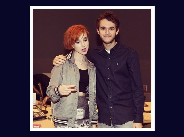 Zedd and Hayley Williams in the recording studio