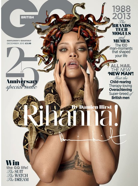 Rihanna dressed as Medusa on GQ magazine front cover