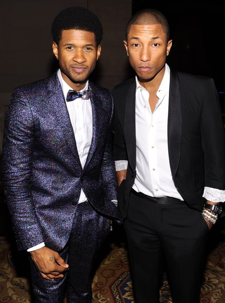 Usher And Pharrell Williams at Angel Ball
