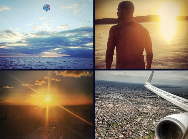 Rappers' holiday pictures on Instagram
