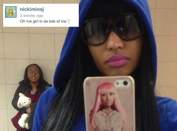 Nicki Minaj Photobomb