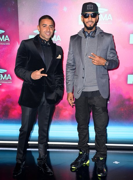 Jay Sean and Swizz Beatz on the MTV EMAs 2013 Red carpet