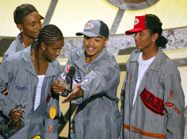 B2K on stage at awards ceremony