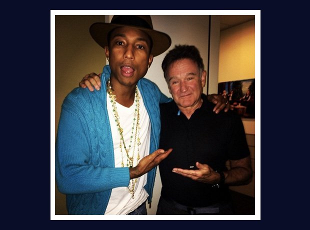 Pharrell Williams and Robin Williams