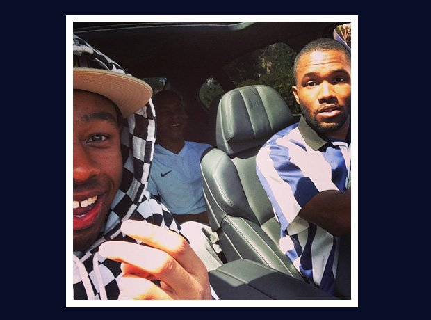 Odd Future selfie with Tyler The Creator and Frank Ocean