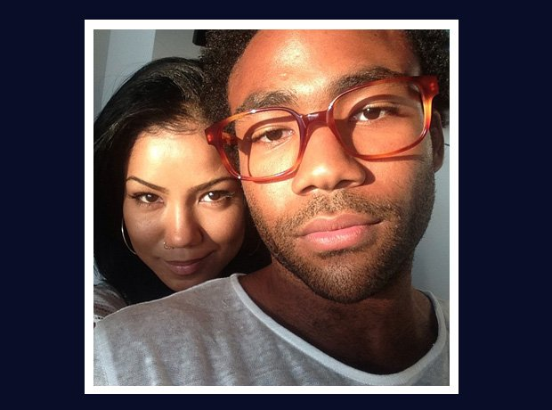 Childish Gambino and Jhene Aiko selfie