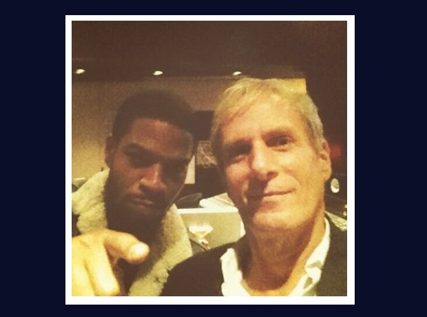 Kid Cudi and Michael Bolton selfie.