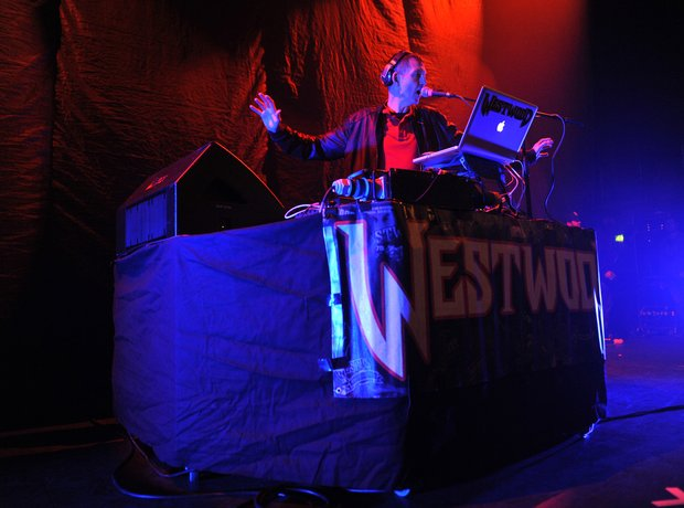 Tim Westwood with J. Cole at Eventim Apollo in London
