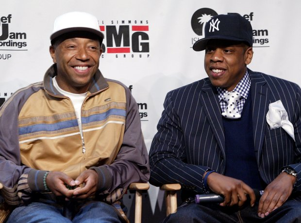 Jay Z and Russell Simmons