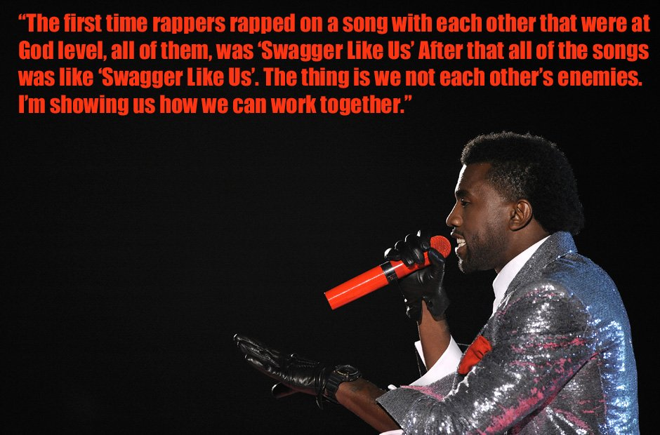 Kanye West swagga like us quote