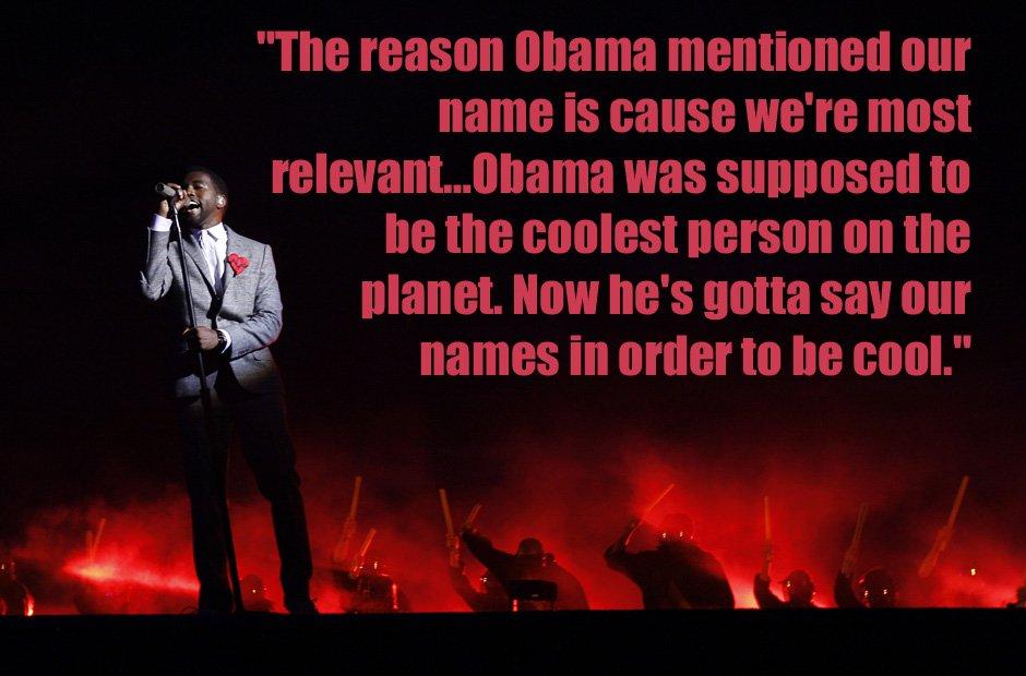 Kanye West Barack Obama quote