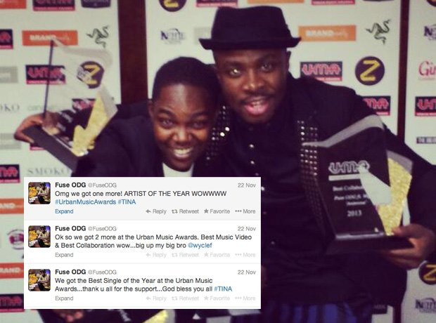 Fuse ODG urban music awards