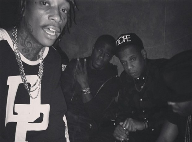 Wiz Khalifa with Jay Z and Nas.