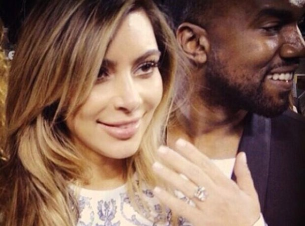 Kim and Kanye engaged