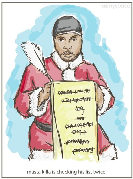 Masta Killah Wu-Tang Clan Christmas Cards