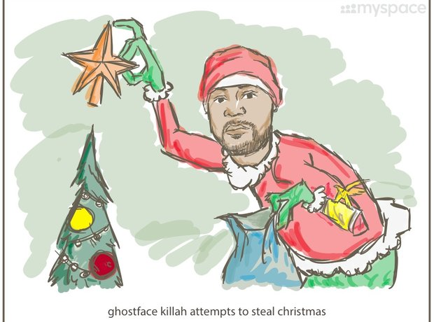Ghostface Killah Wu-Tang Clan Christmas Cards