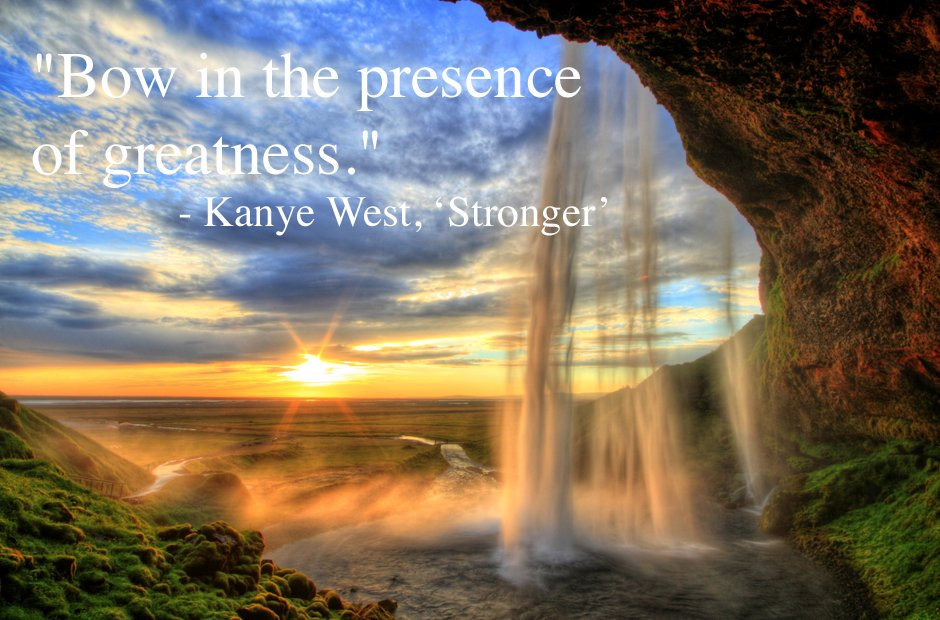 Kanye West 'Stronger' inspirational rap lyric