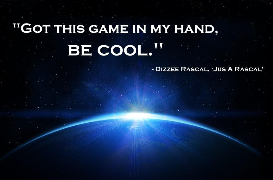 Dizzee Rascal inspirational rap lyrics